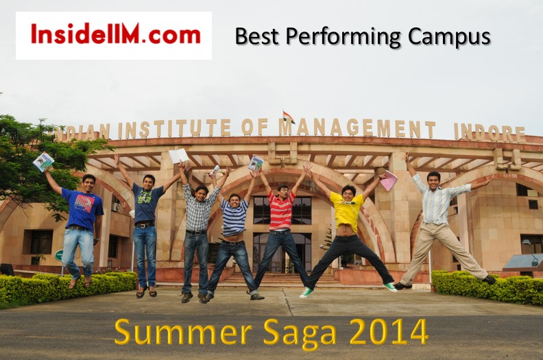 Summer Saga 2014  - Best Performing Campus