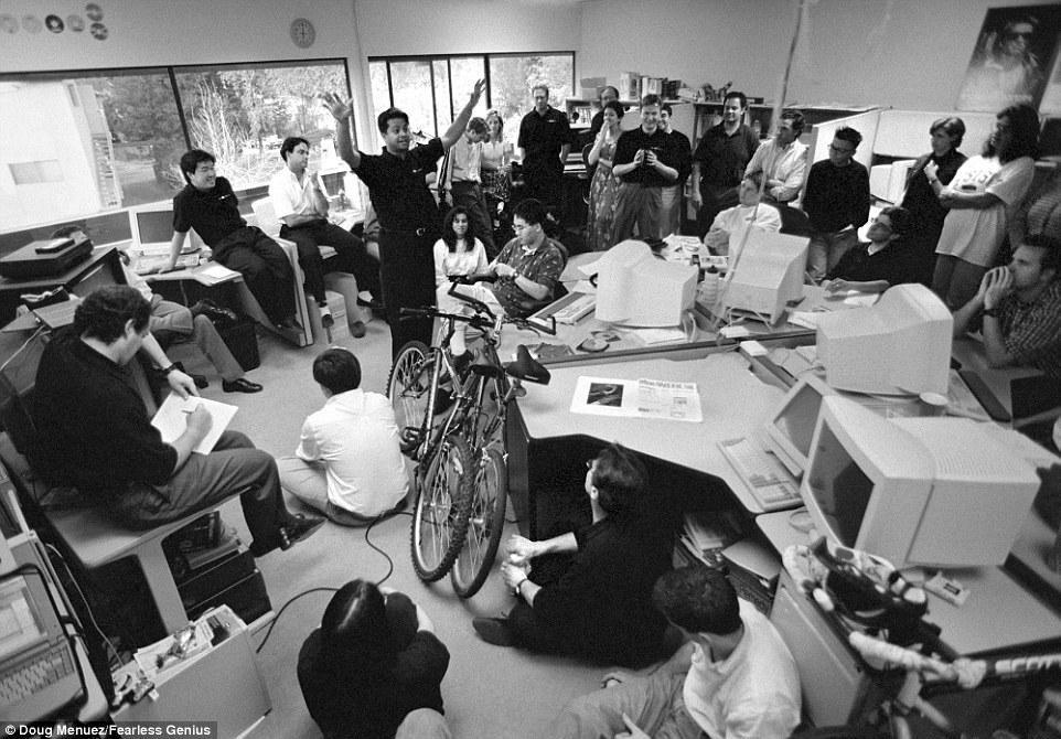 steve jobs and employees