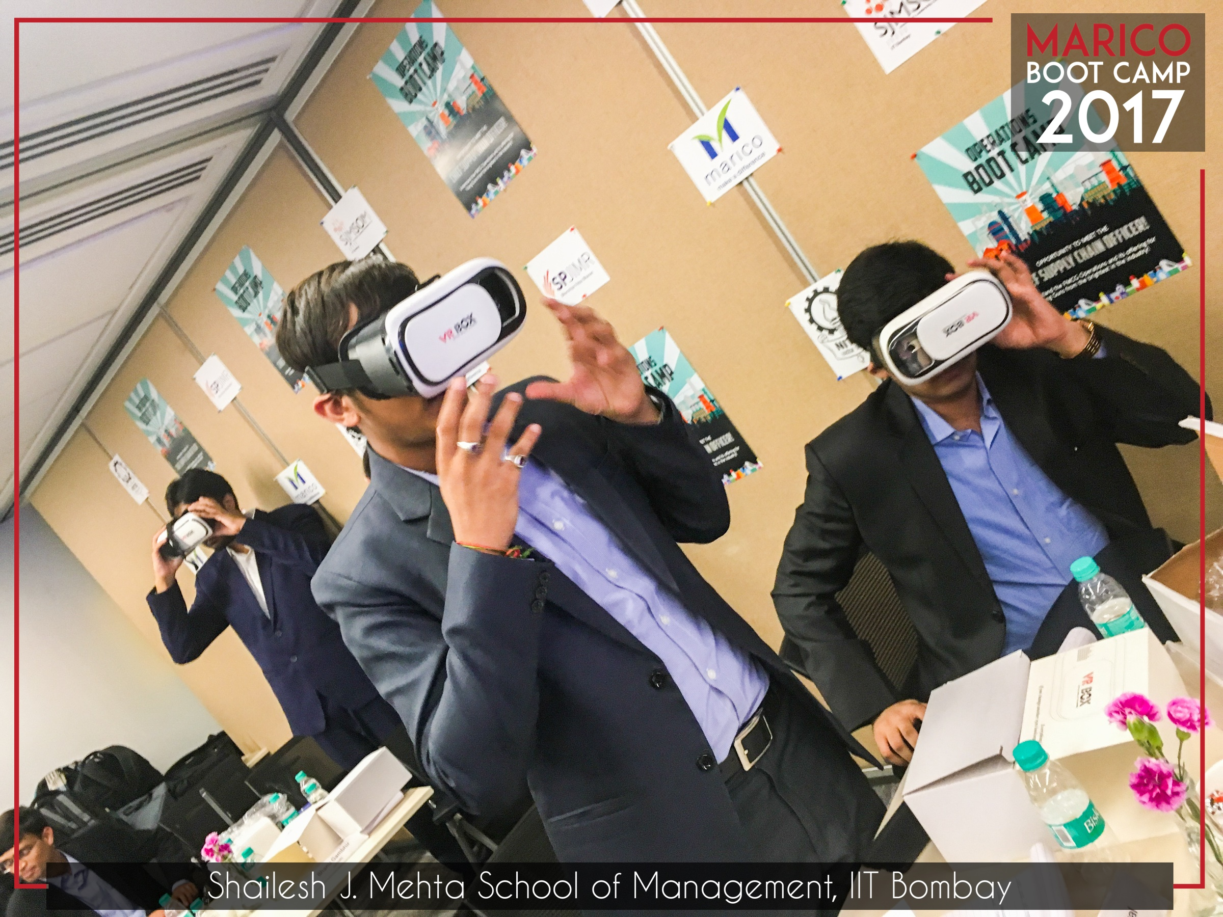 Virtual tour of Marico factories using VR Head Gear(IOT) Technology