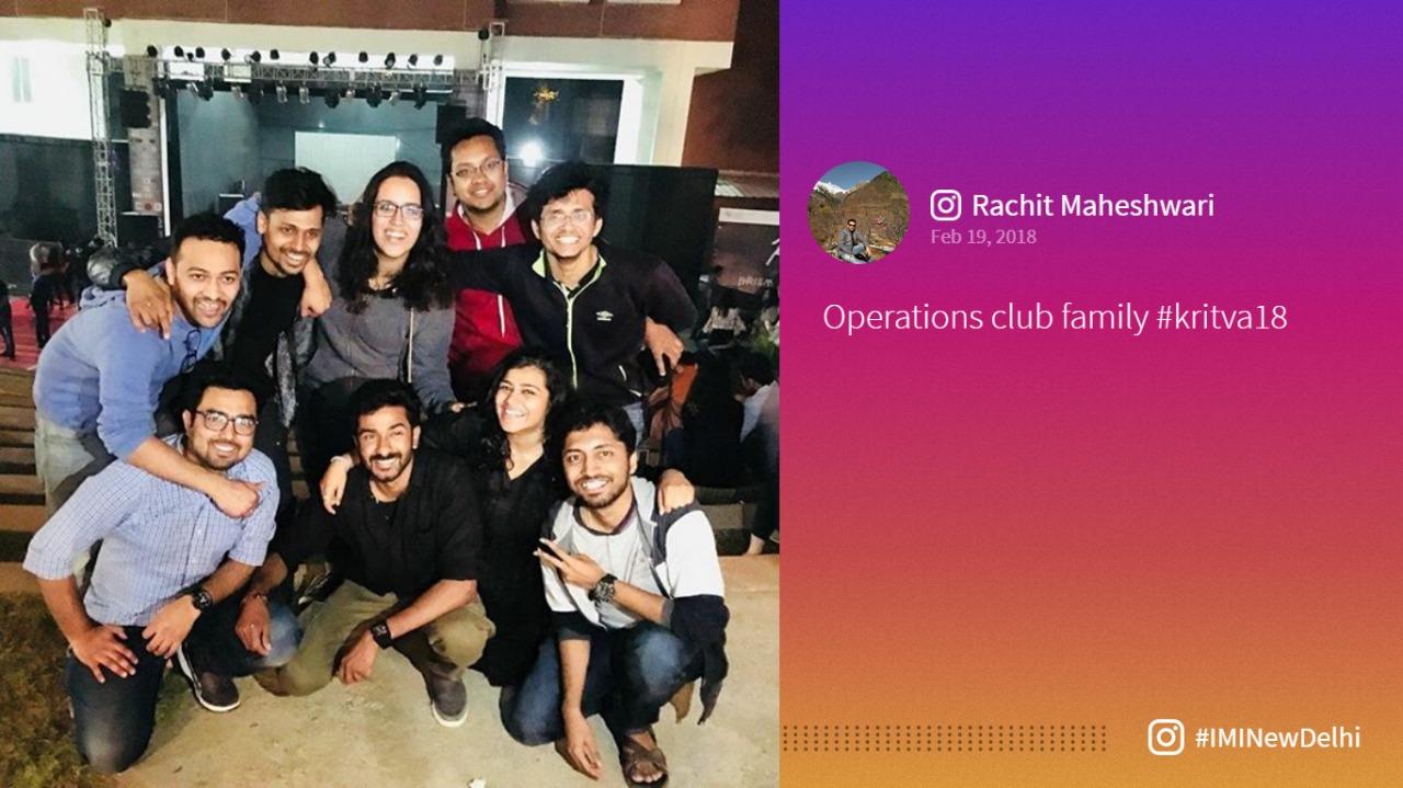 IMI New Delhi Social Media Instagram Kritva