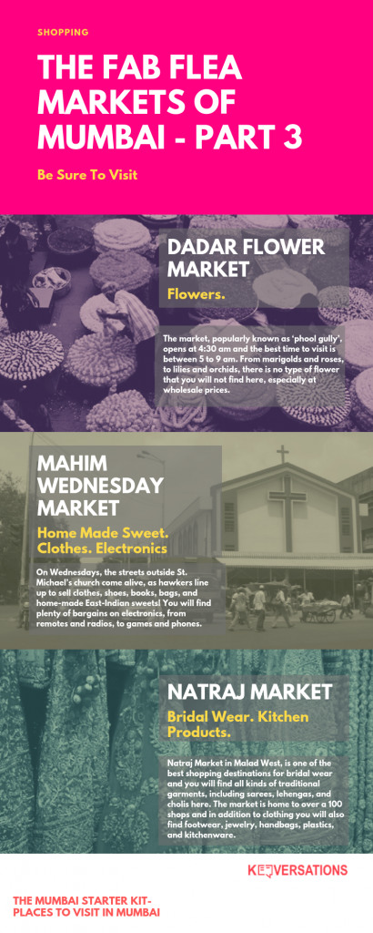 Flea Markets of Mumbai: Dadar Flower Market, Mahim Wednesday Market, Natraj Market