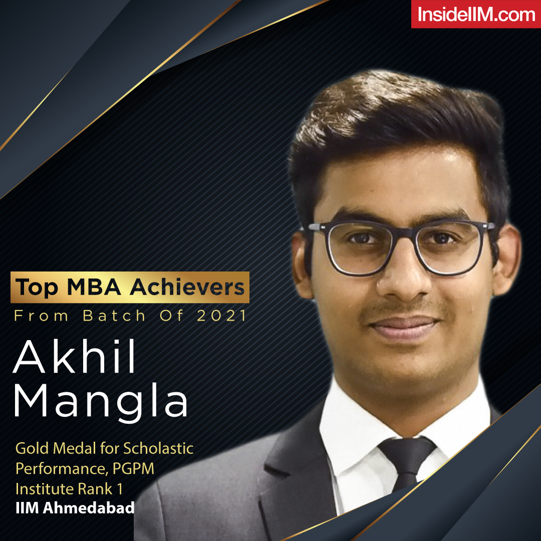 Akhil Mangla - Top MBA Achiever