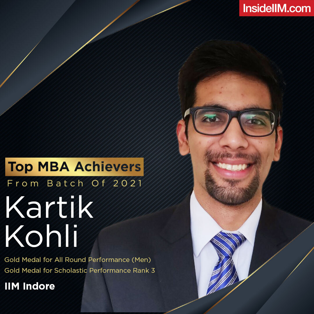 Kartik Kohli IIM Indore Top MBA Achiever