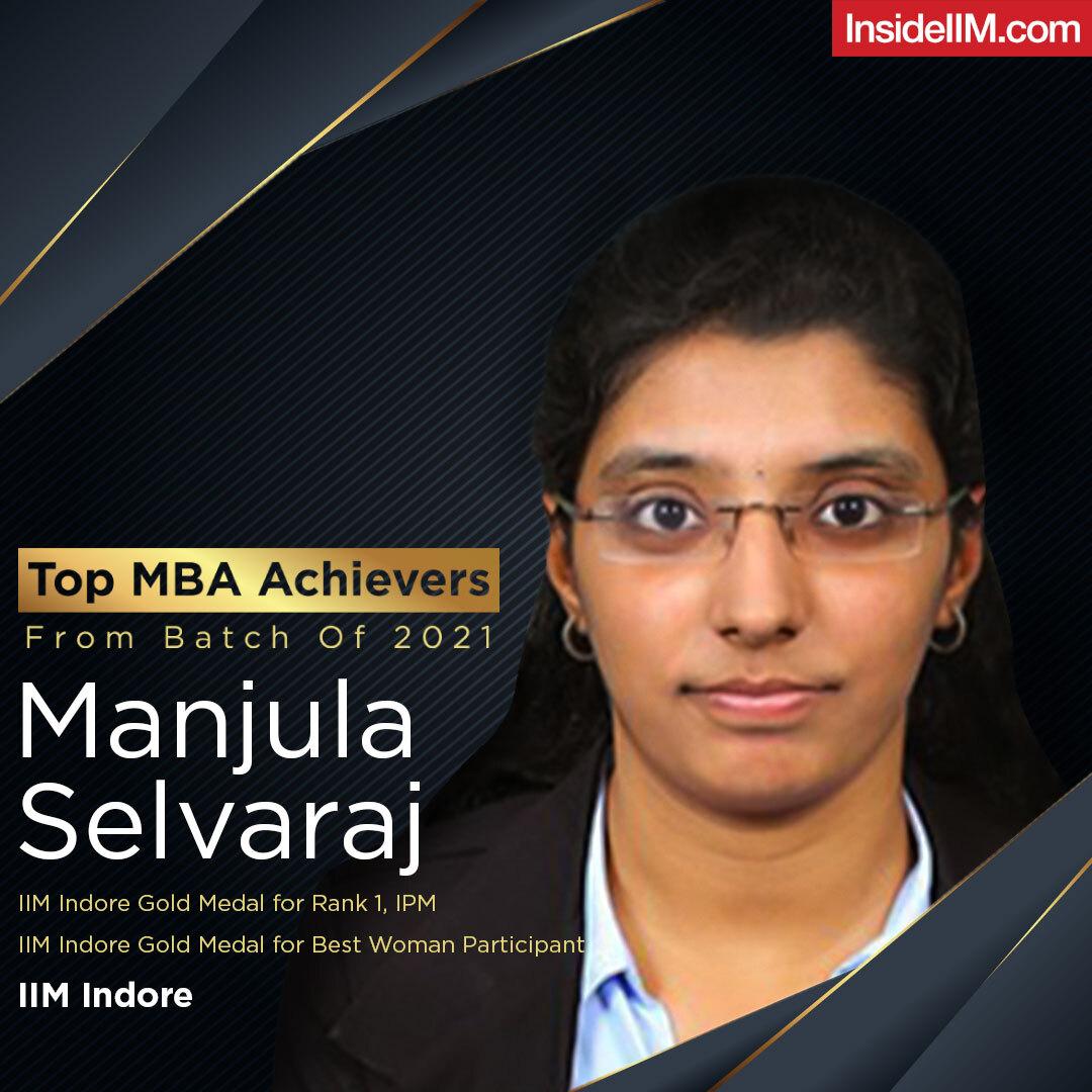 Manjula Salvaraha IIM Indore Gold Medalist